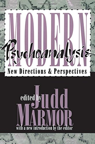 9781560008255: Modern Psychoanalysis: New Directions and Perspectives