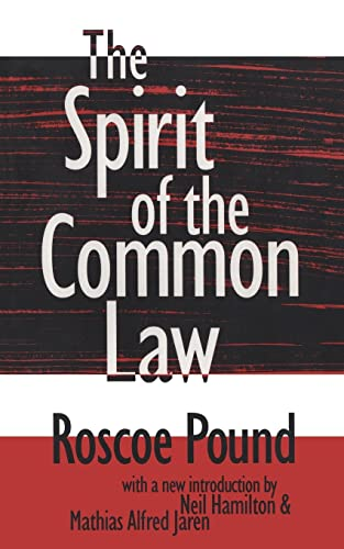 9781560009429: The Spirit of the Common Law