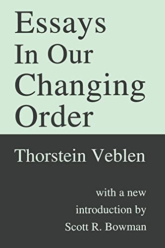 9781560009641: Essays in Our Changing Order