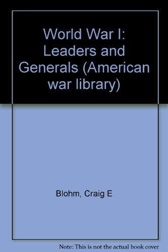 American War Library - World War I: Craig E. Blohm