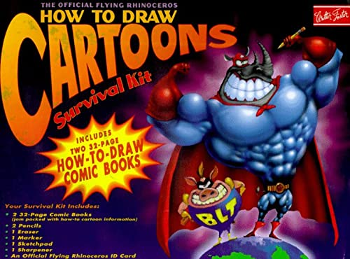 9781560102021: Official Flying Rhinoceros How to Draw Cartoons Survival Kit