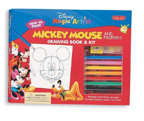 9781560107620: Mickey Mouse & Friends Drawing Book & Kit (DMA Drawing Book & Kit)
