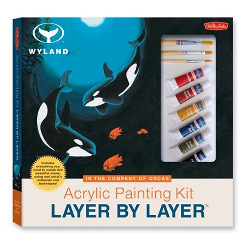 9781560107927: Acrylic Painting Kit Layer by Layer: In the Company of Orcas: This unique method of instruction isolates each layer of the painting, ensuring successful results. (Wyland Layer by Layer Series)