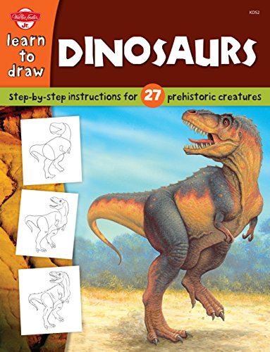 9781560108177: Dinosaurs (Draw and Color (Walter Foster))
