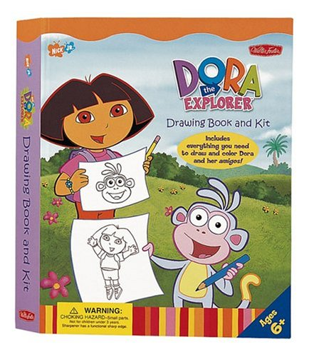 9781560108290: Dora the Explorer Drawing Book & Kit (Nick Jr. Drawing Books & kits)