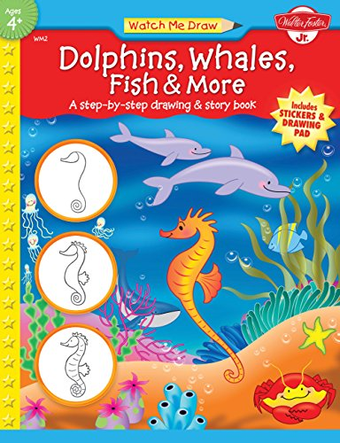 9781560109495: Watch Me Draw: Dolphins, Whales, Fish & More