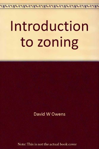 9781560113959: Introduction to zoning