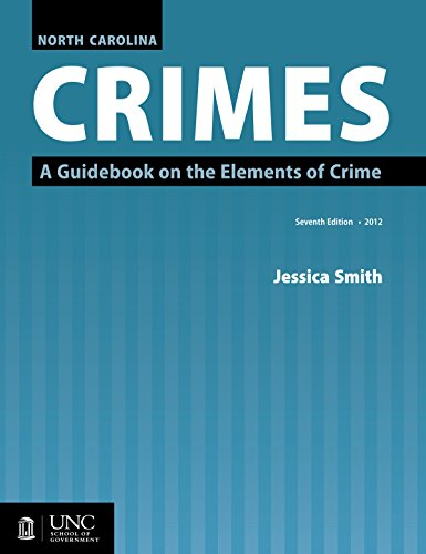 9781560116820: North Carolina Crimes: A Guidebook on the Elements of Crime