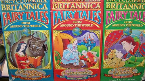 9781560203162: VHS - Encyclopedia Britannica fairy tales from around the world - Cinderella & other animated fables hosted by Pat Morita