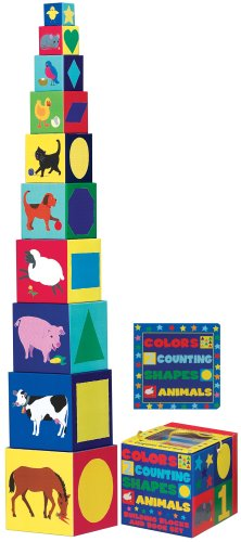 9781560214915: Colors, Counting, Shapes, Animals Building Blocks & Board Book Set