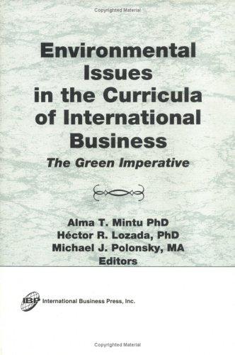 Environmental Issues in the Curricula of International: Erdener Kaynak, Alma