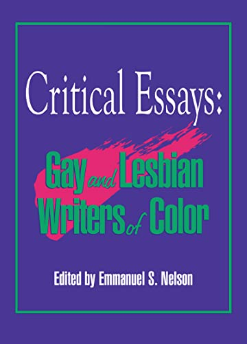 9781560244820: Critical Essays: Gay and Lesbian Writers of Color (Research on Homosexuality)