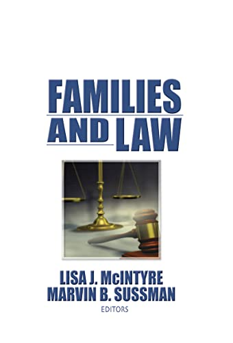 9781560247081: Families and Law (Haworth Marriage & the Family)