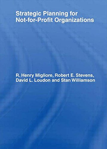 9781560249191: Strategic Planning for Not-for-Profit Organizations (Haworth Marketing Resources)