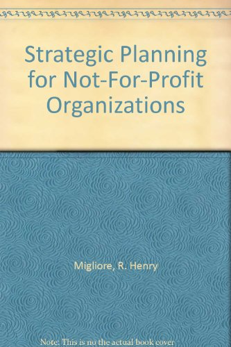 9781560249207: Strategic Planning for Not-For-Profit Organizations