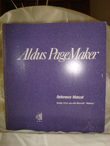 9781560260349: Aldus PageMaker Reference Manual Version 4.0 For Use with Microsoft Windows