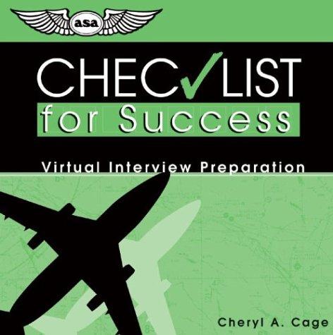 9781560275077: Checklist for Success CD: Virtual Interview Preparation (Professional Aviation series)