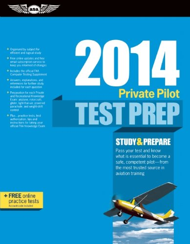 9781560279785: Private Pilot Test Prep 2014: Study & Prepare for Recreational and Private: Airplane, Helicopter, Gyroplane, Glider, Balloon, Airship, Powered ... FAA Knowledge Exams (Test Prep series)