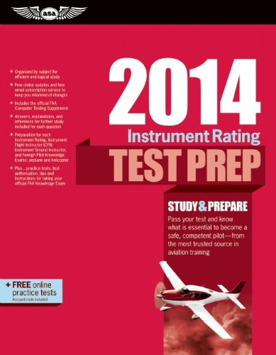 9781560279808: Instrument Rating Test Prep 2014: Study & Prepare for the Instrument Rating, Instrument Flight Instructor (CFII), Instrument Ground Instructor, and ... FAA Knowledge Exams (Test Prep series)