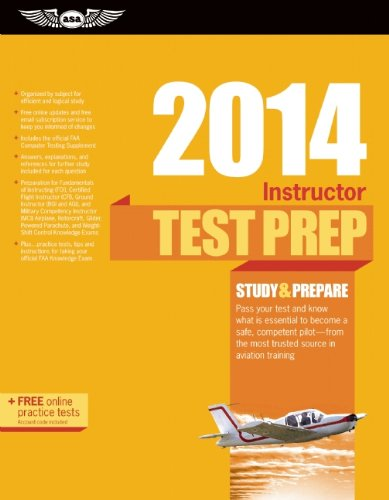9781560279846: Instructor Test Prep 2014: Study & Prepare for the Ground, Flight, Military Competency and Sport Instructor: Airplane, Helicopter, Glider, ... FAA Knowledge Exams (Test Prep series)