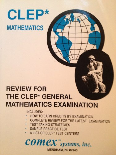 9781560300007: Review for the Clep General Mathematics Examination