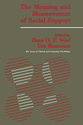 9781560322207: The Meaning And Measurement Of Support (SERIES IN CLINICAL AND COMMUNITY PSYCHOLOGY)