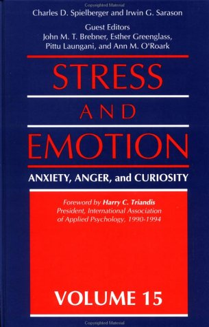 9781560322849: Stress and Emotion, Vol. 15: Anxiety, Anger, and Curiosity