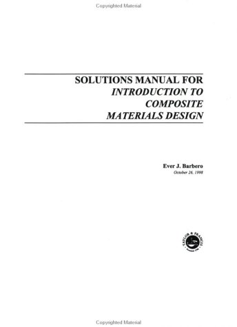 9781560327028: Introduction to Composite Materials Design (Solutions Manual)