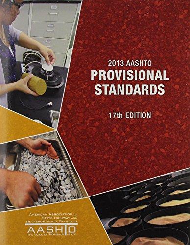 9781560515890: AASHTO Provisional Standards: 2013