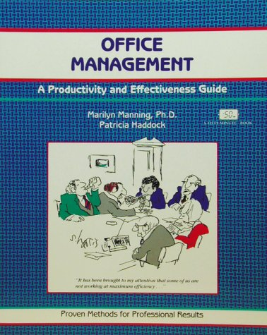 Office Management: A Productivity and Effectiveness Guide: Marilyn Manning