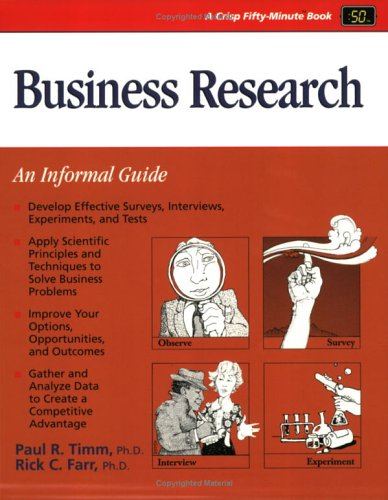 9781560522492: Crisp: Business Research (A Fifty-Minute Series Book)