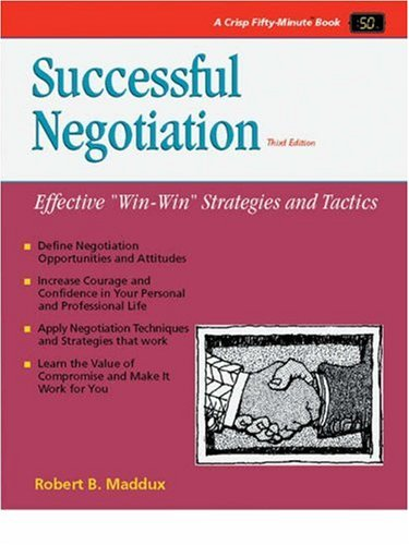 9781560523482: Successful Negotiation (50-Minute Series)