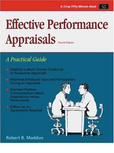 9781560525042: Effective Performance Appraisals (Crisp Fifty-Minute Series)