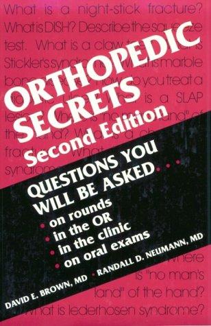 Orthopedic Secrets, 2e: Brown MD, David