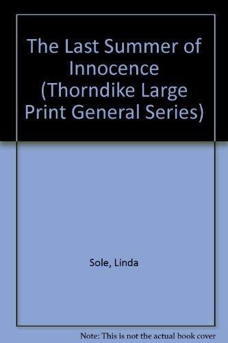 9781560544418: The Last Summer of Innocence (Thorndike Large Print General Series)