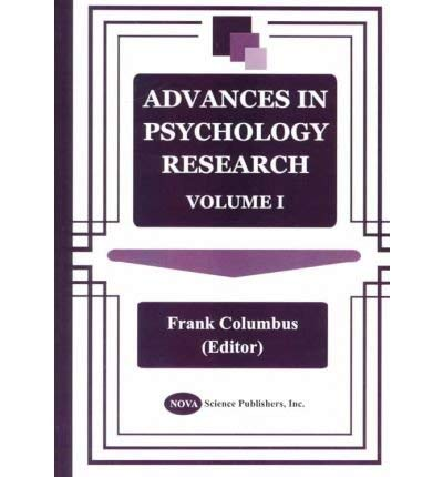 Advances in Psychology Research: Volume 1 (Hardback)