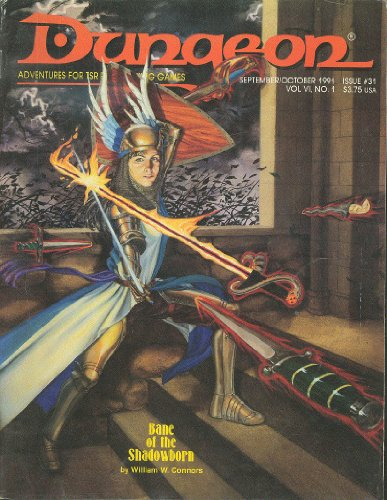 9781560761297: Dungeon Adventures for Tsr Role-Playing Games: September/October, 1991 : Issue No. 31 (Dragon and Dugeon, Vol 6, No. 1)