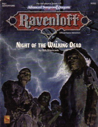 Night of the Walking Dead : Ravenloft Official Game Adventure (Advanced Dungeons & Dragons 2nd Ed...