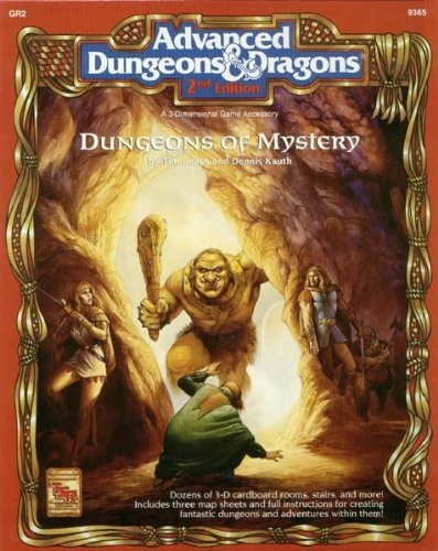 9781560763680: Dungeons of Mystery (AD&D 2nd Ed Fantasy Roleplaying, 3-D Components + Dungeon Mats, GR2, 9365)