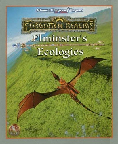 9781560769170: Elminster's Ecologies (ADVANCED DUNGEONS & DRAGONS, 2ND EDITION)