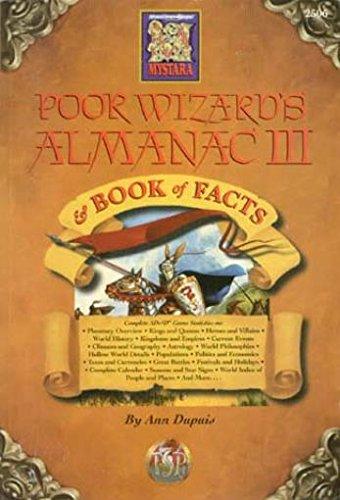 Poor Wizard's Almanac & Book of Facts Edition for Ac 1012 (Dungeons & dragons challenger series) (1560769181) by Dupuis, Ann