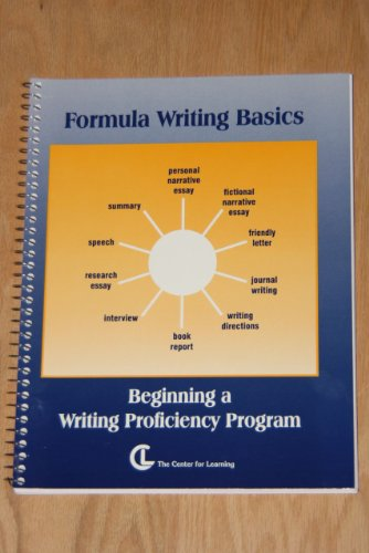 9781560775683: Formula Writing Basics: Beginning a Writing Proficiency Program (English - Language Arts Series)