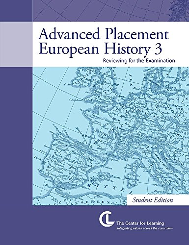 9781560777748: European History 3: Advanced Placement (Student Book)