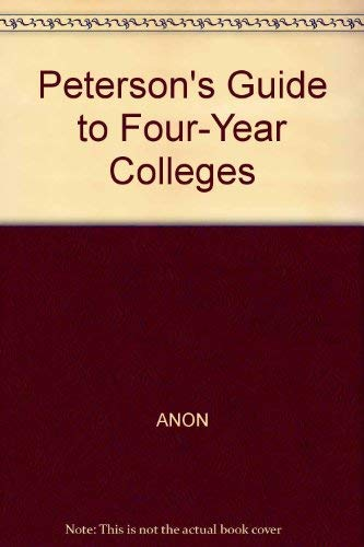 Four Year Colleges 1996, Guide to (Peterson's Four-Year Colleges (W/CD)): Peterson's