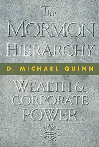 9781560852353: The Mormon Hierarchy: Wealth and Corporate Power