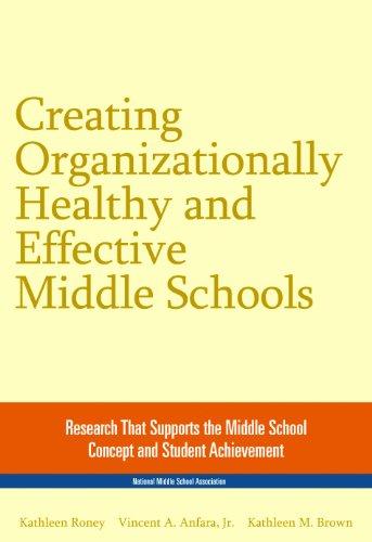 9781560902232: Creating Organizationally Healthy & Effective Middle Schools