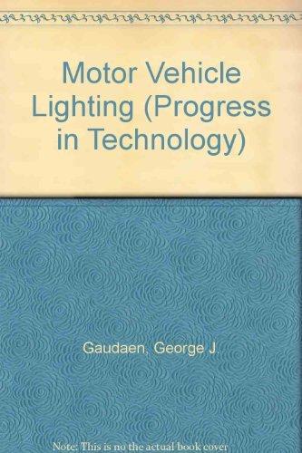 9781560917533: Motor Vehicle Lighting (Progress in Technology)