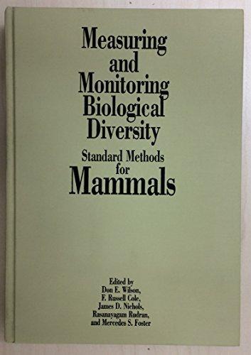 9781560986362: MEASURING & MONITORING BIOLOGICAL DIVERSITY: STANDARD METHODS FOR MAMMALS