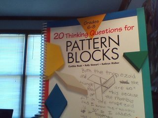 9781561077953: 20 Thinking Questions for Pattern Blocks (Grades 3-6)