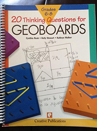 9781561078042: 20 thinking questions for geoboards: Grades 6-8 (20 thinking questions series)
